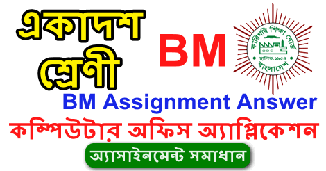 BM Inter First Year Computer Office Application Assignment Answer 2021
