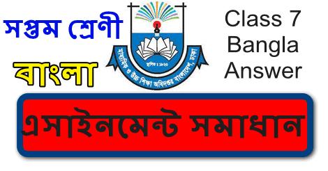 Class 7 Assignment Bangla Answer