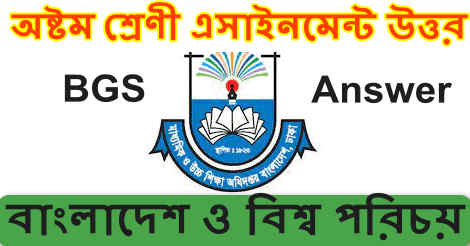 Class 8 Assignment Bangladesh and Global Studies answer