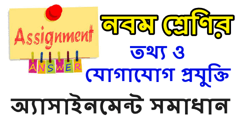 ICT Assignment Class 9 Answer pdf