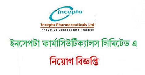 Incepta Pharmaceuticals Limited Job Circular 2021