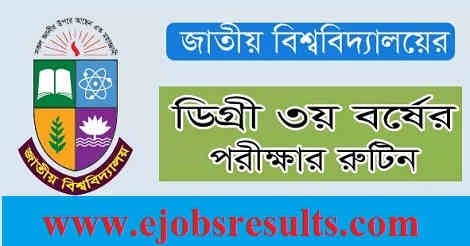 National University Degree 3rd Year Routine
