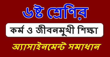 Class 6 Kormo o Jibonmukhi Assignment Answer